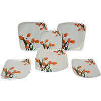 Elegant Big Bird Orange Tulip 24-piece Dinner Set