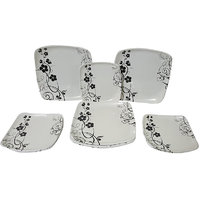Elegant Big Bird Ebony And Ivory 24-piece Dinner Set
