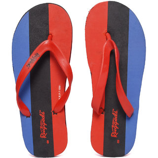 Ruggeds Men Red And Blue Flip Flops