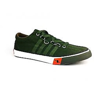 Sparx Men's Olive Canvas Sneakers