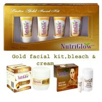 Gold Facial Kit, Bleach & Anti Ageing Cream With Vitamin E