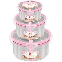 Crown Craft Steel & Glass Air Tight Containers (Set Of 3)