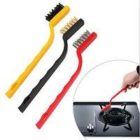 Multipurpose Brush (set Of 3pcs) For Cleaning Gas/Sliding Window/Sink Drainer