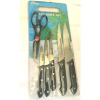 Tru-Edge Kitchen Knife Board Set, 7-Pieces
