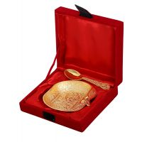 Rajrang Serving Classic Brass Bowl # BSG00017 (Pack Of 2)