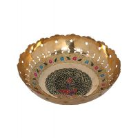 Rajrang Serving Classic Brass Bowl # BSH00096 (Pack Of 1)
