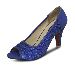 Get Glamr Designer Peep Toes Blue