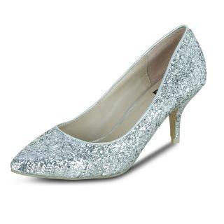Get Glamr Kara Pumps Silver