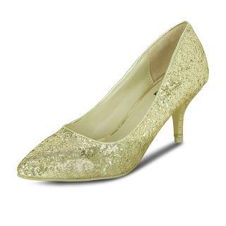 Get Glamr Kara Pumps Gold