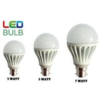 Combo Of 3W, 5W, 7W Led Bulbs(Set Of 3 Bulbs) - 83044944