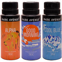 Park Avenue Alpha Cool Blue Good Morning Pack Of 3 Deodorants Combo Set