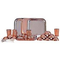 24 Pcs Dinner Set With Bottom Copper Plating