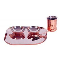 5 Pcs Baby Dinner Set With Bottom Copper Plating