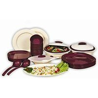 SignoraWare 36 Pcs. Dinner Set With Double Wall Casseroles 254