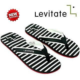 Levitate Men's Black And White Flip Flop