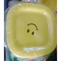 SET OF 6PCS PLATES WITH SMILEY FACE