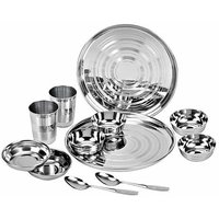 Jaipan Stainless Steel Dinner Set Of-12
