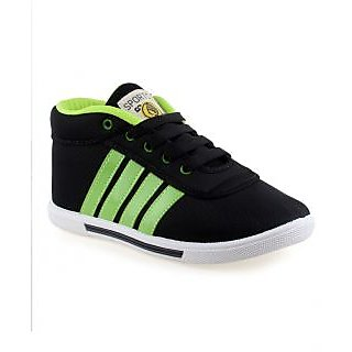 Arrow Men's Black And Neon Green Casual Shoes