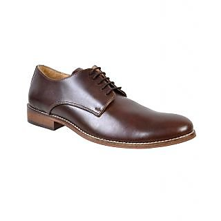 Hirels Brown Leather Derby Shoes