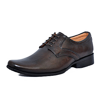Zoom Men'S Pure Leather Casual Shoes D-61-Brown-9