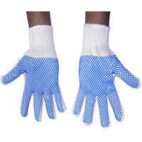 Pvc Dotted Cotton Hand Gloves 1 pair 2 Gloves Soft Drive Work gloves Knife Cut R