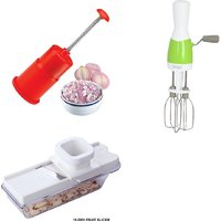 SHRI KRISHNA COMBO OF HAND BLENDER, ONION CHOPPER AND DRY FRUIT SLICER