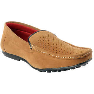 CNS Men's Tan Colour Suede Leather Loafers