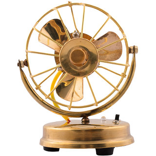 eCraftIndia Brass Antique Table Fan Showpiece  BUF500  available at ShopClues for Rs.395