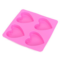 Silicone Heart Shape Chocolate Jelly Candy Mold Tray - Pink Or Blue