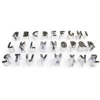 26 Piece Alphabet Letter Cake Decorating Set Fondant Icing Cutter Mould