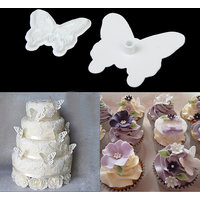New Butterfly Cake Fondant Decorating Sugarcraft Cookie Plunger Cutters Mold