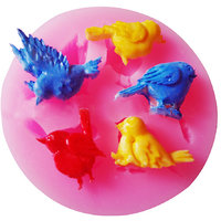 Bird Pattern 3D Fondant Cake Mold Candy Sugar Craft Cutter Silicone Baking Tool