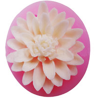 Lotus Flower 3D Fondant Cake Mold Candy Sugar Craft Cutter Silicone Baking Tool - Random Color