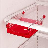 Smart Slide Fridge Freezer Refrigerator Shelf Rack Holder Space Saver- Red