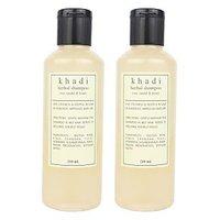 Khadi Harbal Shampoo With Rose, Sandal  Honey Pack Of Two