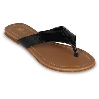 Flora Casual Wear New Black Flat Sandal