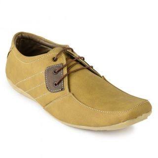 Foot N Style Beige Synthetic Leather Casual Shoes For Men (fs3118)