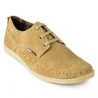 Foot N Style Beige Synthetic Leather Casual Shoes For Men (fs3124)