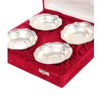 German Silver Set Of 4 Bowl