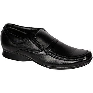 Khadims Softouch Black Semi-Formal Slip-On Shoe