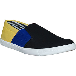 Glaze Men Slip-On Canvas Shoe - BlueYellow