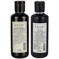 Khadi Herbal Amla & Bhringraj Shampoo And Khadi Bhrinjraj Hair Oil Comb 420 Ml