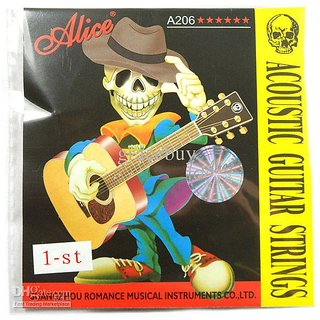 2 Pieces of Alice E high, 1st  Acoustic Guitar Stainless String available at ShopClues for Rs.150
