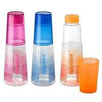 Nayasa Beautiful 1000 Ml Water Bottle(3 Pcs , Multicolor)