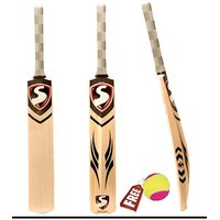 Cricket Bat White Willow + Free Cosco Ball
