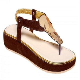 Royal Footwears Brown Women Wedges