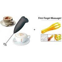 Fosher Portable Mini Hand Blender Whisker Battery Powered + Free Finger Massager