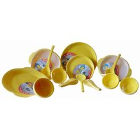 CLICKFLIP Yellow Kitchen Microwave 42 Pcs Dinner Set