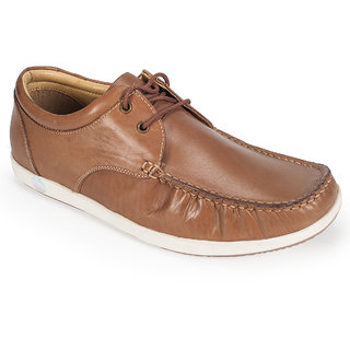 Khadims British Walkers Brown Leather Derby Shoe