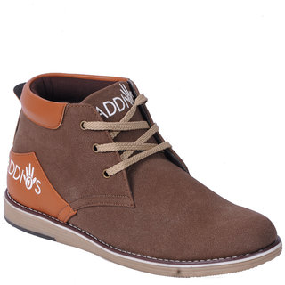 ADDIOS Brown High Ankle Casual Shoe